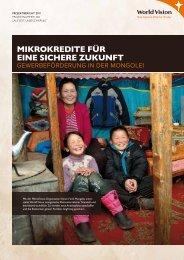 Mikrokredite für eine sichere Zukunft - World Vision Schweiz