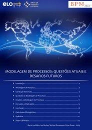 modelagem de processos: questões atuais e desafios ... - ELO Group