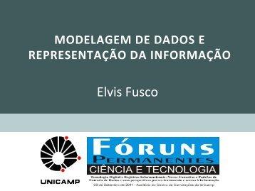 Modelagem de Dados e Representação da Informação