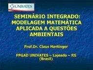 SEMINÁRIO INTEGRADO: MODELAGEM MATEMÁTICA ... - Univates