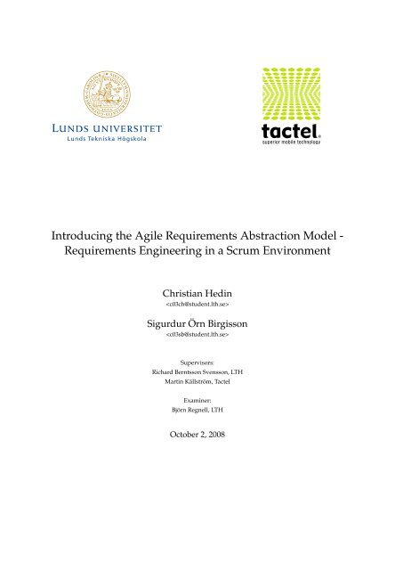 Introducing the Agile Requirements Abstraction Model