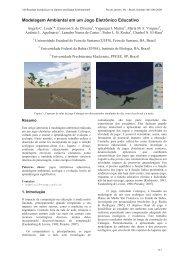 Modelagem Ambiental em um Jogo Eletrônico Educativo - SBGames
