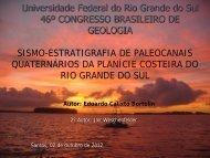 Download da apresentação - 46º Congresso Brasileiro de Geologia