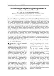 Perspective ontologice în modelarea sistemelor informationale de ...