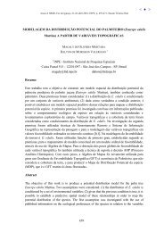 Modelagem da distribuição potencial do palmiteiro - Inpe