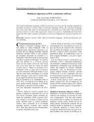 Modelarea riguroasa cu OCL a sistemelor software - Informatica ...