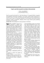Aspecte privind conceptul de modelare informationala - Informatica ...