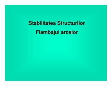 Stabilitatea Structurilor Flambajul arcelor