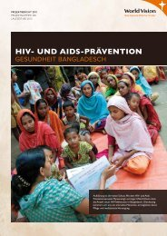 HIV- und AIds-PräVentIon - World Vision Schweiz