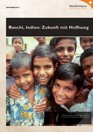 Ranchi, Indien: Zukunft mit Hoffnung - World Vision Schweiz
