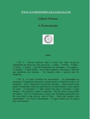 Gabriel Delanne A Reencarnação