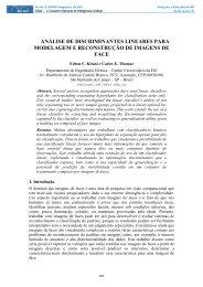 Análise de Discriminantes Lineares para Modelagem e ... - Fei