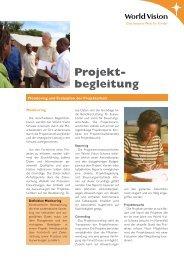 Projekt- begleitung - World Vision Schweiz