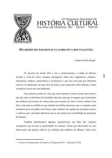 mulheres do amazonas na narrativa dos viajantes - GT Nacional de ...
