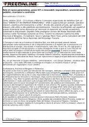 Rete di nuova generazione, green ICT e rinnovabili - Valtellina S.p.A.