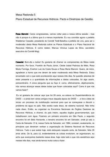 Mesa Redonda 05 - sigrh - Governo do Estado de São Paulo
