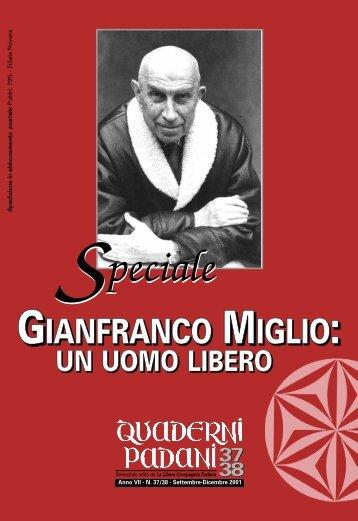 Gianfranco Miglio - un - La Libera Compagnia Padana