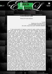 """A LOUCURA DO VAZIO Tatiana de Freitas Massuno """"o mudo ..."""