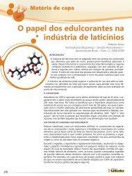 o papel dos edulcorantes na indústria de laticínios - Revista Laticínios