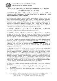 D1ªI - Laticínios Qualisul - GRS BH - Secretaria de Estado de Saúde ...