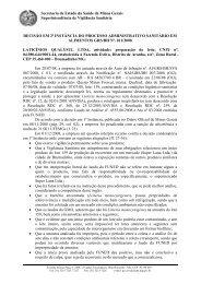 D2ªI - Laticinios Qualysul Ltda - Secretaria de Estado de Saúde de ...