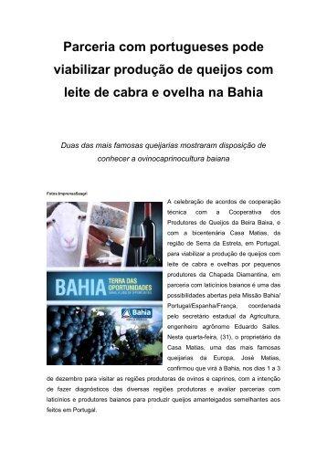 Parceria com portugueses pode viabilizar produção de ... - Seagri