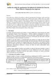 Análise da cadeia de suprimentos da indústria de laticínio ... - Abepro