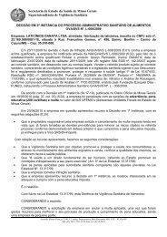 D. 2ª I - LATICÍNIOS DANATA LTDA. - Secretaria de Estado de ...