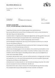 Flucht und Rettungswege - Bauverein Breisgau eG