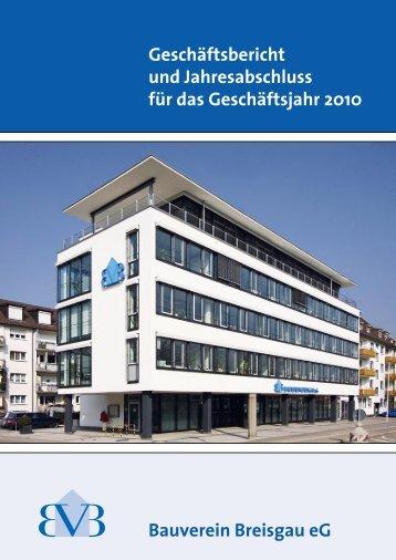 Bauverein Breisgau eG Geschäftsbericht und Jahresabschluss für ...