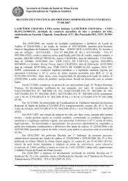 P.A CVS.GRS-ITA nº 001.2007 - Laticínios Chapada Ltda