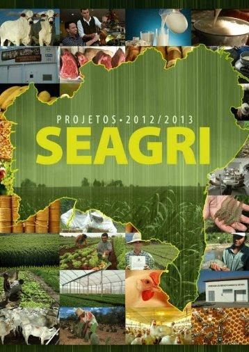 Portfólio SEAGRI Projetos 2012 - 2013