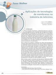 Aplicações de tecnologias de membranas na ... - Revista Laticínios