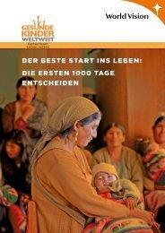 Der beste start ins Leben - World Vision Schweiz