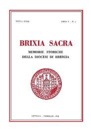 Nuova serie (1970) V, fascicolo 1 - Brixia Sacra