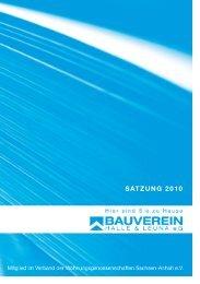 Satzung der Bauverein Halle & Leuna eGPDF
