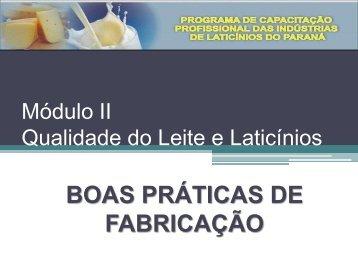 Módulo II Qualidade do Leite e Laticínios