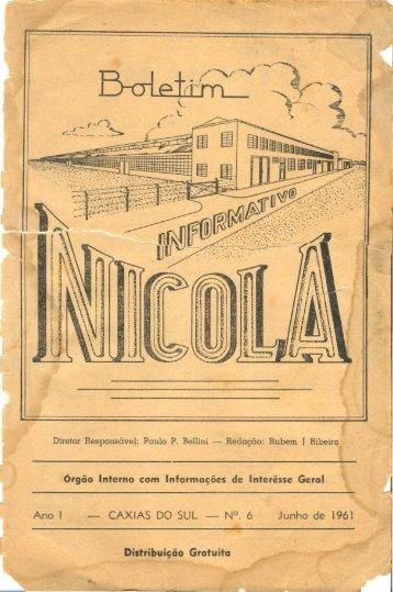 Boletim Informativo Nicola - 1961 - Marcopolo