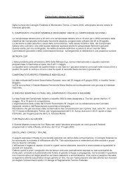 Comunicato stampa del 5 marzo 2002 Dalla riunione del Consiglio ...
