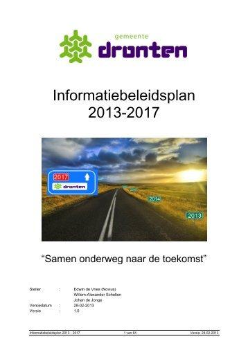 Informatiebeleidsplan 2013-2017