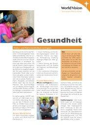 Fachblatt Gesundheit - World Vision Schweiz