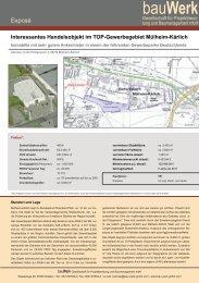 Vermarktung einer Gewerbeimmobilie im Top ... - bauWerk GmbH