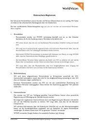 Datenschutz-Reglement - World Vision Schweiz