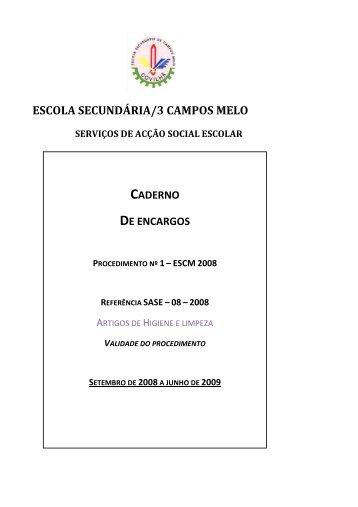 Artigos de limpeza - Escola Secundária Campos Melo