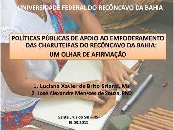 Políticas Públicas de Apoio as Charuteiras do Recôncavo da Bahia