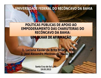 universidade federal do recôncavo da bahia políticas públicas de ...