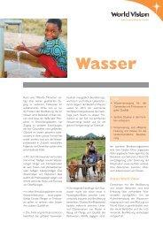 Fachblatt Wasser - World Vision Schweiz