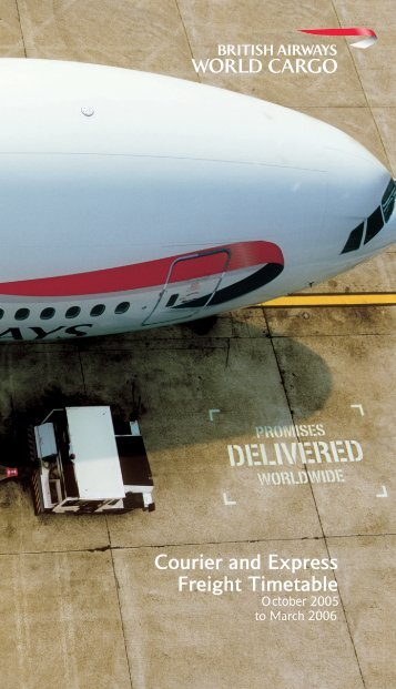 Courier-Express Timetable - British Airways World Cargo