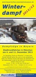 Winter- dampf -  Bayerisches Eisenbahnmuseum e.V.