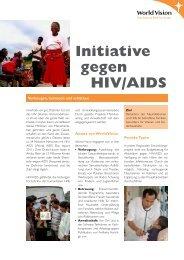 Initiative gegen HIV und Aids - World Vision Schweiz
